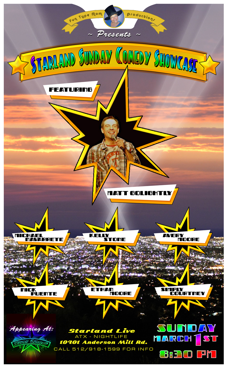 Image of Starland Comedy Show Poster